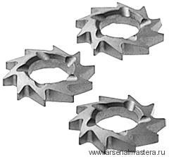 Фрезы дисковые косозубые FESTOOL, комплект из 12 шт. HW-FZ 12