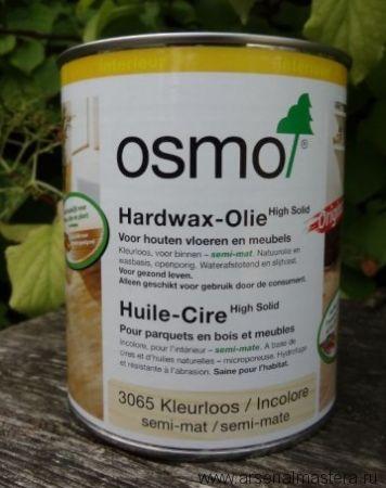 Масло с твердым воском Osmo Hartwachs-Ol Original 3065 бесцветное полуматовое, 0,75л