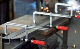Цельнометаллическая струбцина BESSEY classiX GS 160 х 80 мм с традиционной деревянной рукояткой GS16