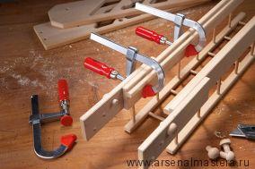 Легкая струбцина для работы с деревом, пластмассой и стеклом LMU BESSEY LMU20-5