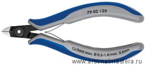 Кусачки (БОКОРЕЗЫ) для электроники прецизионные KNIPEX 79 02 120