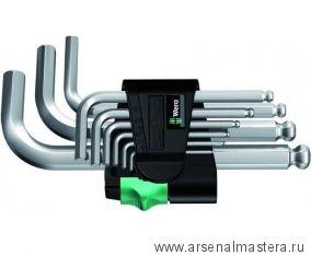 Набор Г-образных ключей, метрических, хромированных WERA 950/9 SM N
