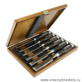 Набор стамесок плоских Wood Line Profi Narex 6 шт в деревянном кейсе (6, 10, 12, 16, 20, 26 мм)  NB 8530 53