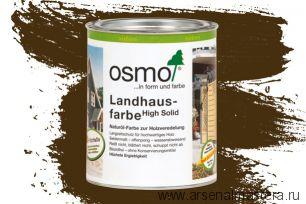 Непрозрачная краска для наружных работ Osmo Landhausfarbe 2606 коричневая 0,75 л