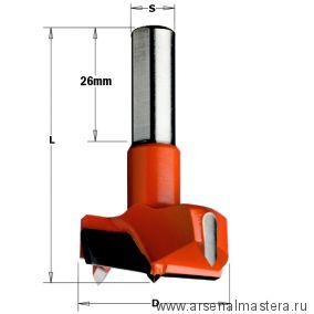 CMT 317.260.11 Сверло HW для присадочного станка 26x57,5 Z=2+2 S=10x26 RH