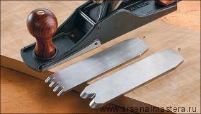 Нож для шерхебеля Veritas 38мм/А2 с двумя зубцами М00012380