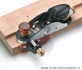 Рубанок торцовочный с косым ножом и упором, правый Veritas Skew Block Plane 05P76.01