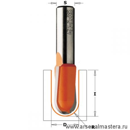 CMT 914.190.11 Фреза пазовая радиусная R9,5 S8 D19x11,5x50,8