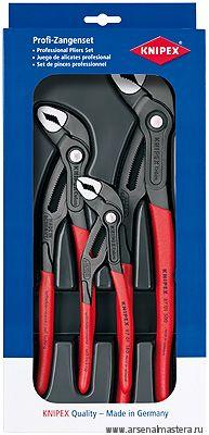 Набор инструментов, 3 предмета, высокотехнологичные сантехнические клещи 180-250-300 мм, KNIPEX 00 20 09 V02