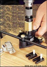 Шаблон (Кондуктор) сверлильный для мебельных петель Veritas Hinge-Boring Jig 05J07.01