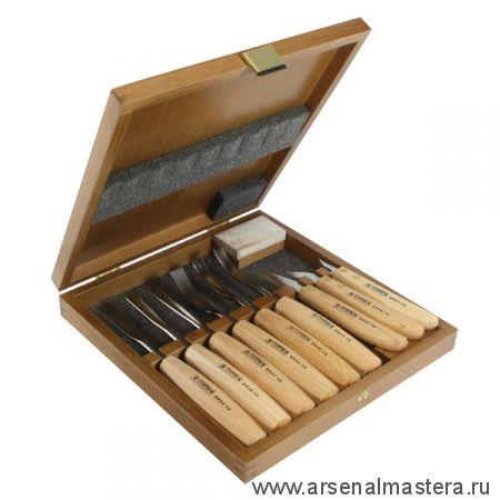 АКЦИЯ! Набор резцов 6 шт + ножи 3 шт Narex Standart в деревянной коробке 8948 13