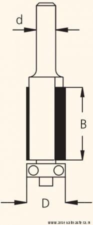 Фреза концевая обгонная двузубая D12,7 B51 d12 W.P.W. F281272