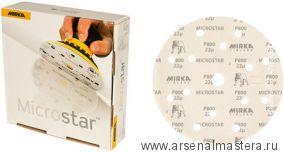 Шлифовальный круг на пленочной  основе липучка Mirka MICROSTAR 150мм 15 отв P2500 в комплекте 50 шт.