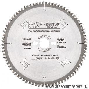 CMT 285.060.11M Диск пильный 260x30x2,8/1,8 10гр 15гр ATB Z60 (подходит для Festool)