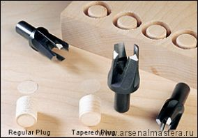 Пробочники 4-лапые Veritas Tapered Snug-Plug Cutters, D 6,8 и 10мм 05J05.50