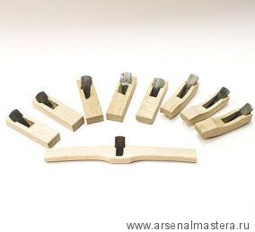 Рубанки японские из белого дуба MikiTool Small, 94 мм, 9 штук в деревянном кейсе М00010979