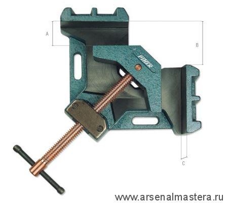 Тиски (зажим) силовые для угловых соединений (Струбцина угловая для сварки) Piher A-10