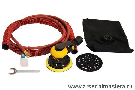 Шлифовальная пневматическая машинка для шлифования на всех типах поверхности MIRKA ROS 550DB 125 мм орбита 5,0 мм с мешком для сбора пыли