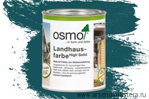 Непрозрачная краска для наружных работ Osmo Landhausfarbe 2501 морская волна 0,75 л
