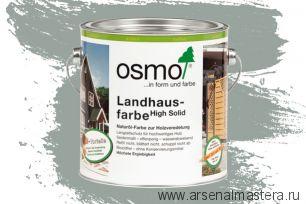Непрозрачная краска для наружных работ Osmo Landhausfarbe 2742 серый туман 2,5 л