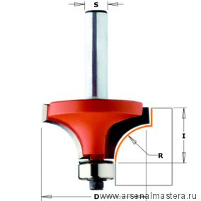 CMT 938.317.11 Фреза радиусная серия 938 внутр.радиус  R9,5 (нижн. подш.) S8 D31,7x14