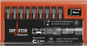 Набор насадок и держатель WERA 8755-9/IMP DC Impaktor Bit-Check  WE-057684