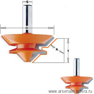 CMT 955.504.11 Фреза для углового сращивание 9,5-19 мм (Угол 90/180гр) S=12 D=50,8x22,2