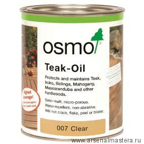 Масло для террас Osmo 007 Terrassen-Ole  для тика бесцветное 2,5л