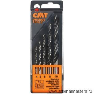 CMT 517.001.00 Комплект свёрл по дереву SP (2 флейты) D4-5-6-8-10 RH 5 шт